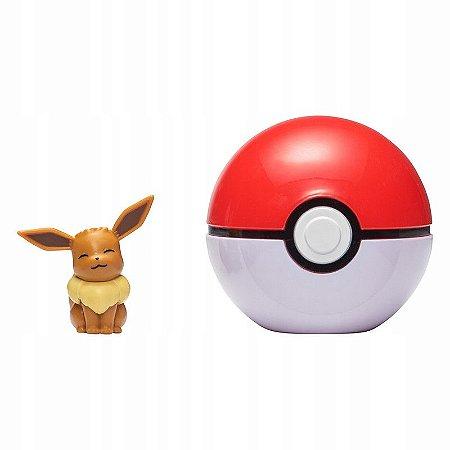Pokémon - Clip N Go - Eevee + Pokebola Poké Ball - Sunny