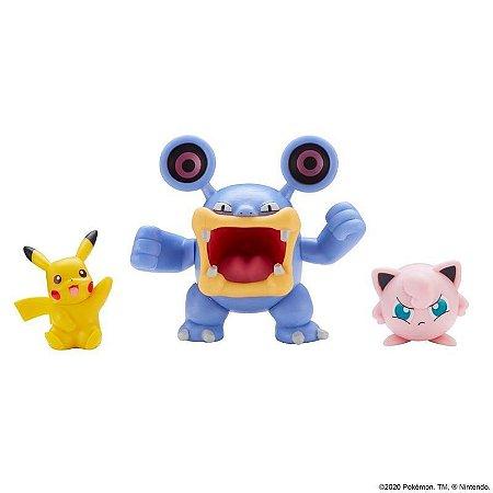 Pokémon Battle Set - Loudred + Pikachu + Jigglypuff - Sunny