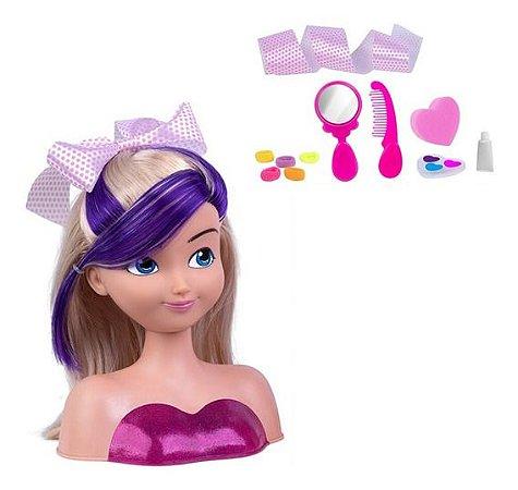 Boneca Busto Nancy Hair p/ Penteados e Maquiagem - Supertoys
