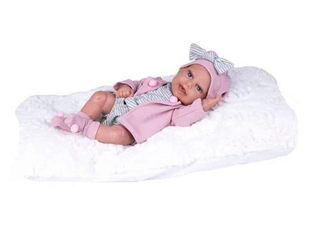 Boneca Bebê Reborn C/ Casaco - Realista + Acess - Supertoys