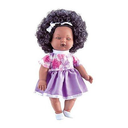 Boneca Nelly Doll - Negra - Fala 100 Frases - 40cm - Milk