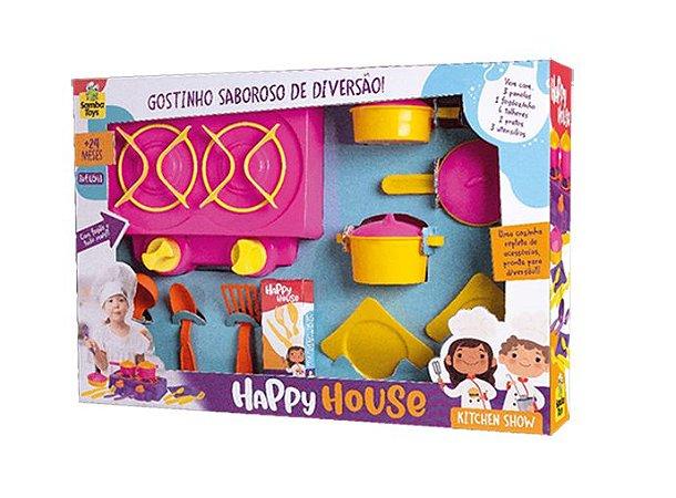 Cozinha Fogão c/ Panelinhas e Acessórios- Happy House- Samba