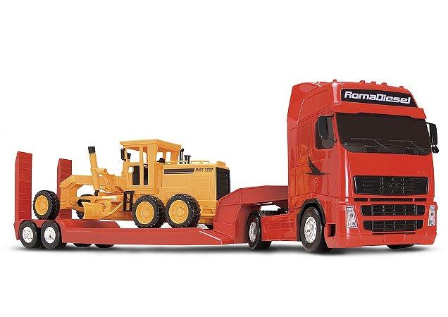 Caminhão Roma Diesel com Motoniveladora - Roma Brinquedos