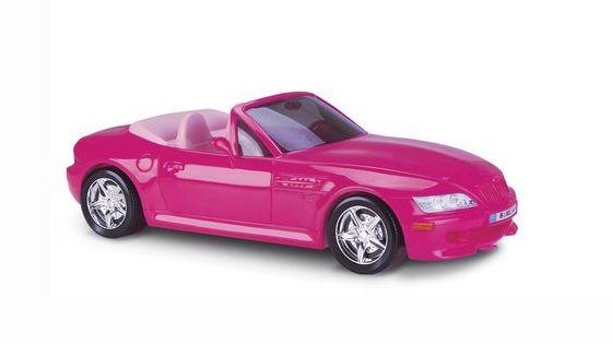 Carrinho Roadster Conversível para Bonecas - Rosa - Roma Brinquedos