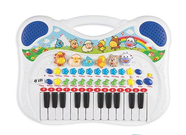 Piano Musical Animal - Azul - Braskit