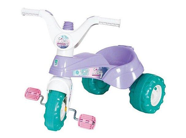 Triciclo Velotrol Lisy Princesa com Haste e Som - Supertoys