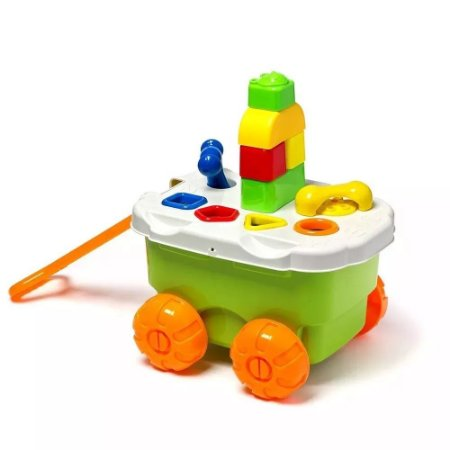 Carrinho de Atividades e Formas Didáticas - Play Time - Cotiplás