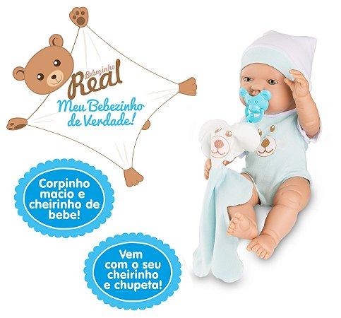Boneco Bebezinho Real - Menino - Roma Brinquedos