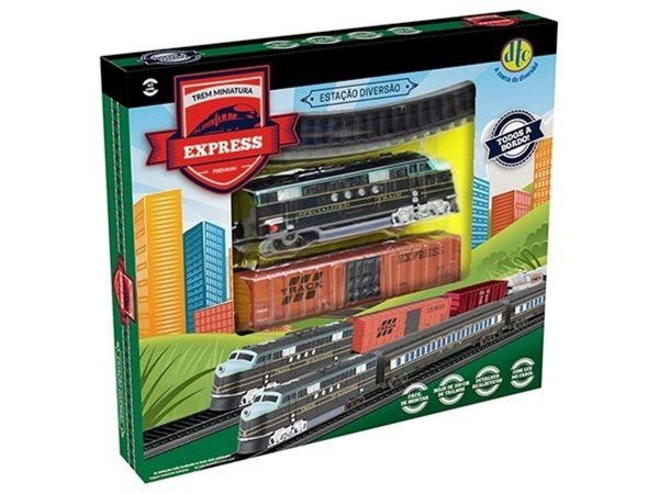 Trem Trenzinho Ferrorama Miniatura - Express Premium - Dtc