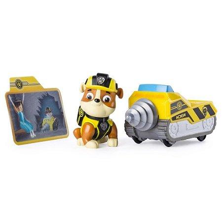 Patrulha Canina - Veículo e Figura - Missão Patinha - Rubble Minerador - Sunny