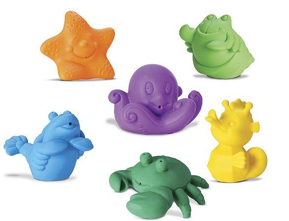 Coleção Bichinhos - Frutos do Mar - Brinquedo para Banho - Roma Brinquedos