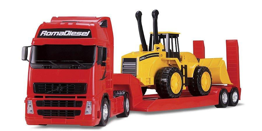 Caminhão Roma Diesel com Carregadeira - Roma Brinquedos