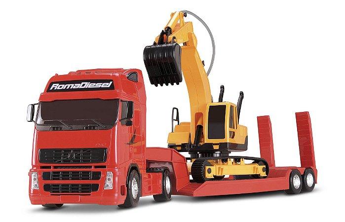 Caminhão Roma Diesel com Escavadeira - Roma Brinquedos