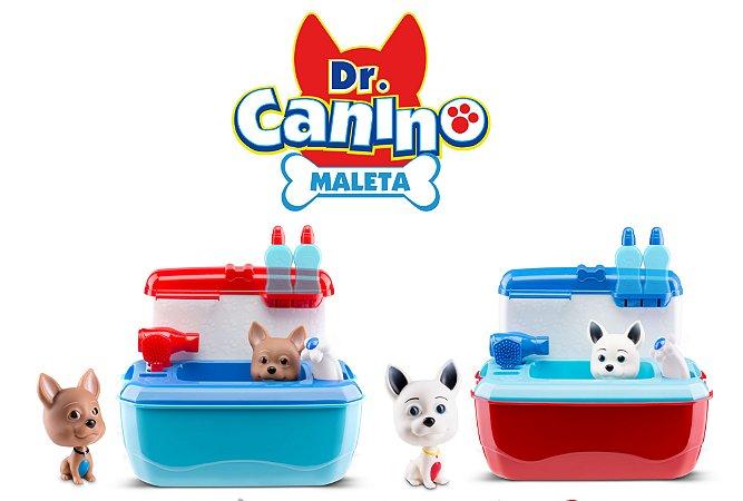 Maleta Doutor Dr. Canino - Veterinário e Pet Shop - Vermelho/Azul - Roma Brinquedos