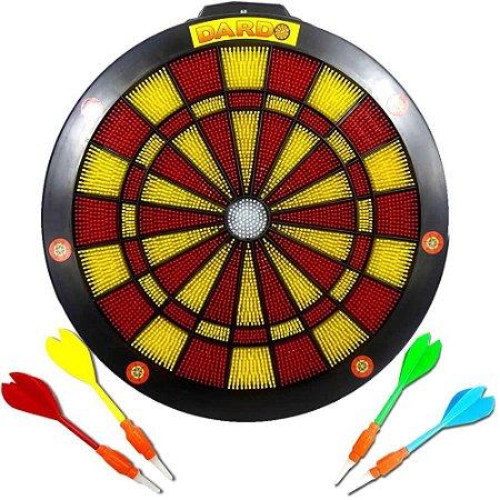 Jogo De Dardo Grande-  Acerte O Alvo - Com 4 Dardos - Braskit