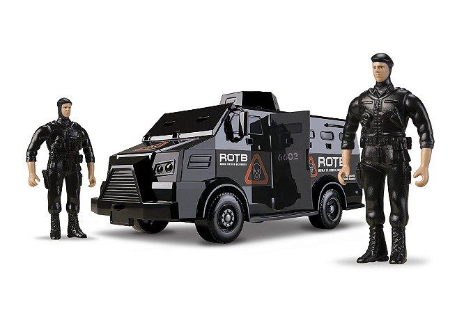 Caminhão Tático Blindado 34cm - C/ 2 Militares - Roma Brinquedos