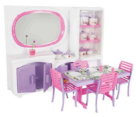 Sala de Jantar Para Bonecas + Acessórios - Lua de Cristal