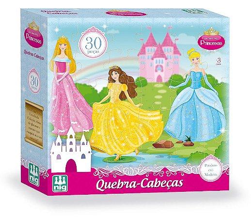 Quebra Cabeça em Madeira - 30 peças - Princesas - NIG