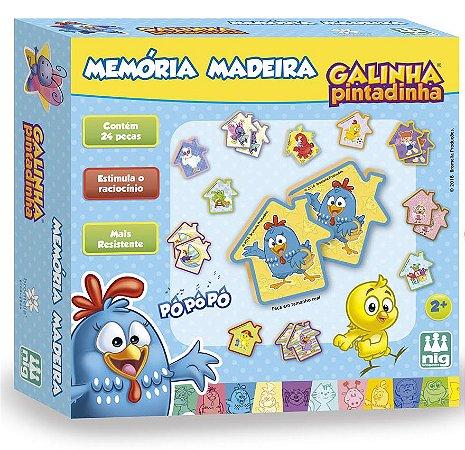 Jogo da Memória em Madeira 24 peças - Galinha Pintadinha - NIG