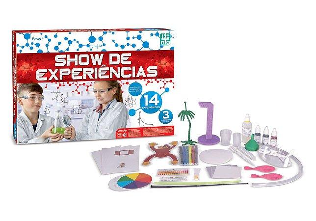 Jogo de Ciências Show de Experiências - c/ kit de experiências - NIG