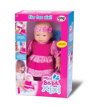 Boneca Mini Bebê Xixi c/ Mamadeira - Faz xixi de verdade - OMG KIDS