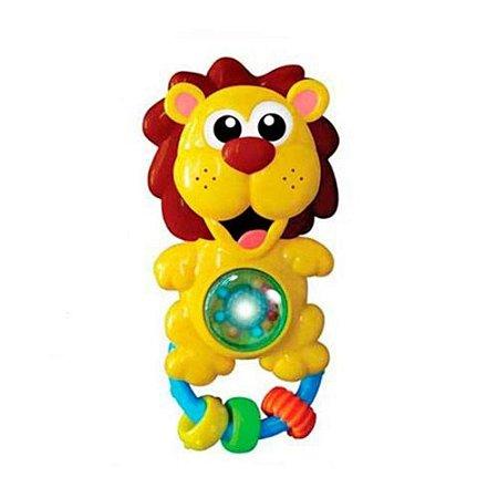 Chocalho C/ Som E Luz Para Bebê - Leão Leãozinho - Zoop Toys