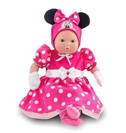 Boneca Minnie 48cm - Classic Dolls Recém Nascido - Roma Brinquedos