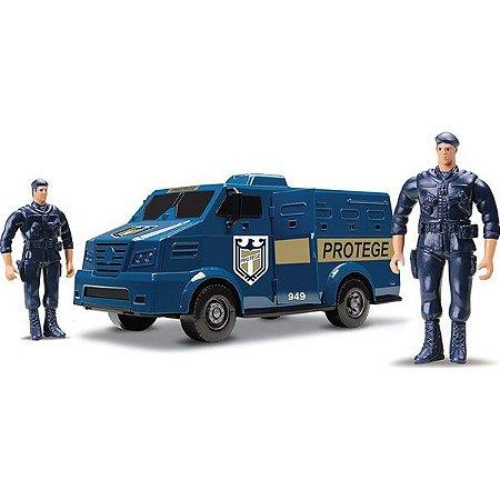 Carro Forte Caminhão Transporte De Valores - Protege - Roma Brinquedos