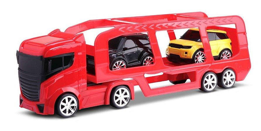 Caminhão Cegonheira Cegonha Top Motors C/ 2 Carrinhos - Omg