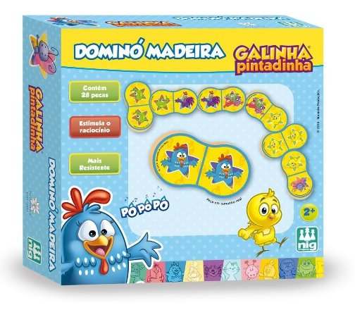 Jogo De Dominó Em Madeira - Galinha Pintadinha - Nig