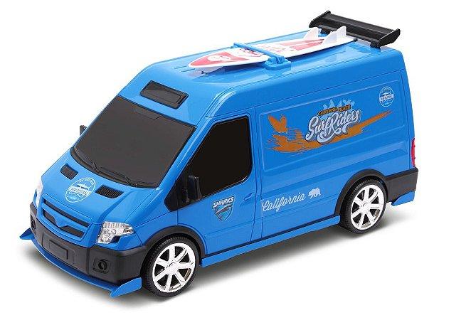 Carrinho Infantil - Van Supervan Surf C/ Prancha - Omg Kids