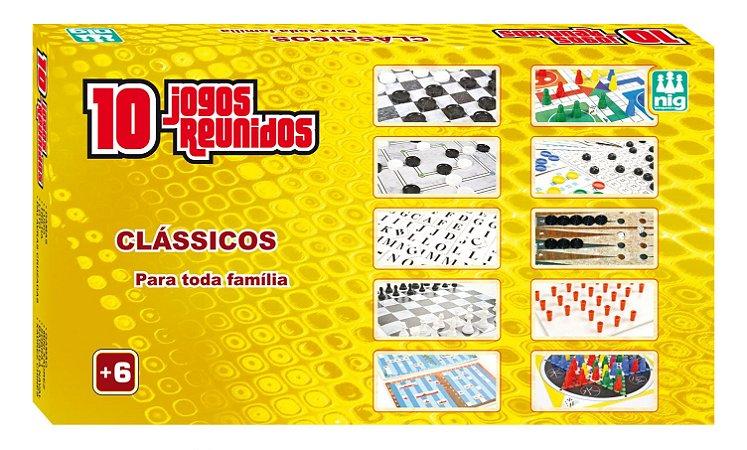 10 Jogos Reunidos - Dama Trilha Ludo Xadrez + 6 Jogos - Nig