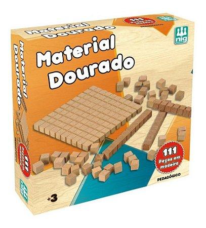 Material Dourado C/ 111 Peças - Pedagógico - Educativo - Nig