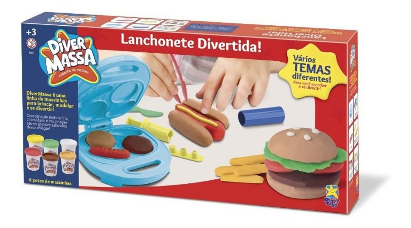 Massinha Diver Massa Lanchonete - Hambúrguer - Divertoys