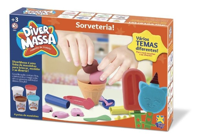 Massinha Diver Massa Sorveteria Sorvete - Divertoys