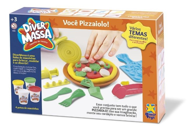 Massinha Diver Massa Pizzaiolo Pizza - Divertoys