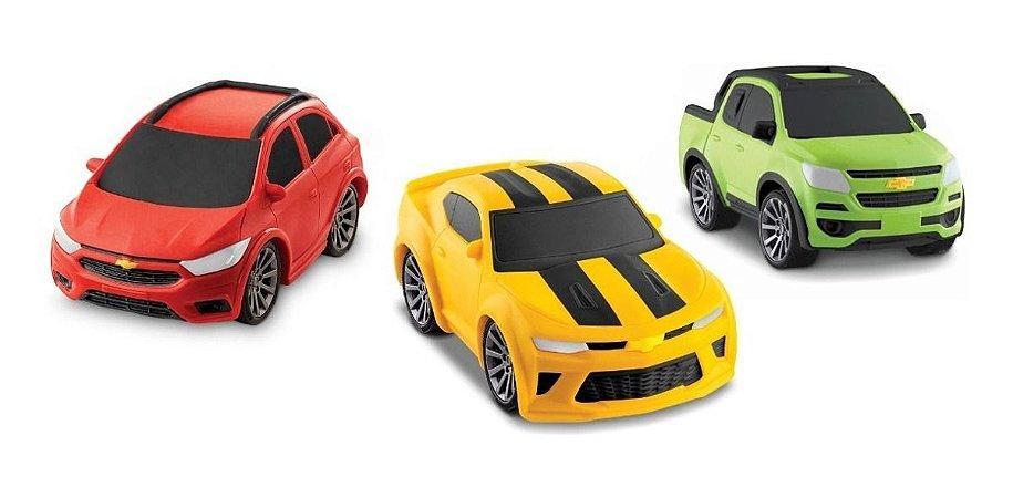 Coleção 3 Carrinhos Chevrolet Kids - Vini Para Bebês - Roma