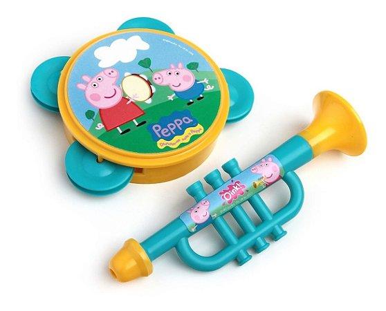 Minha Bandinha Peppa Pig Pandeiro E Corneta - Elka