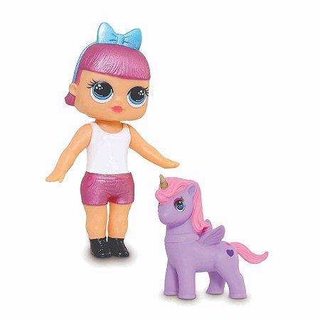 Boneca Mini Dolls Lol Fantasy 18cm C/ Unicórnio - Adijomar