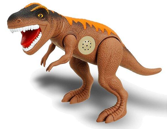 Dinossauro Tirano Rex Jurassic 43cm C/ Som- Adijomar