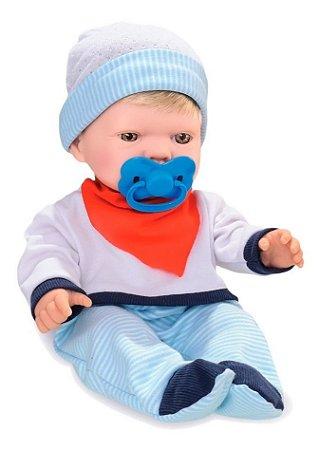 Boneco Bebê Bebezinho Real Faz Xixi Gêmeos - Menino  Roma