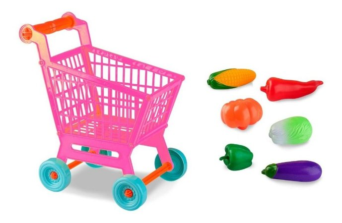 Carrinho De Compras Mercado Infantil C/ Legumes 30cm - Zoop