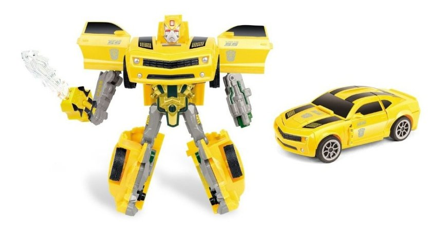 Boneco Carro Robô Warriors Transformers 16cm- Zoop Toys