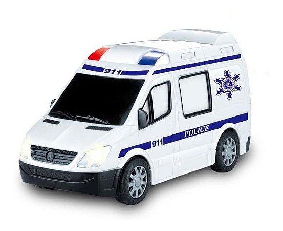 Carrinho Polícia C/ Controle Remoto Luz E Som 20,5cm - Zoop