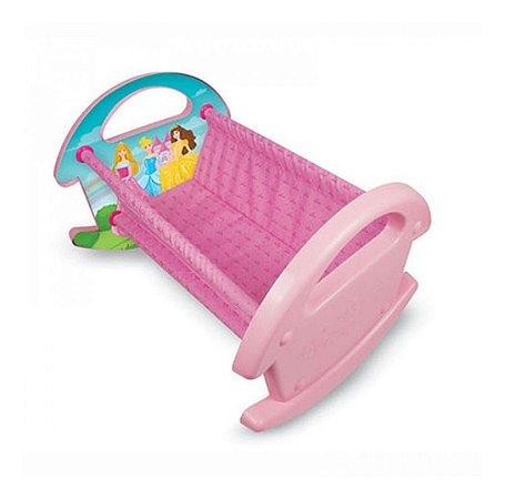 Berço Bercinho P/ Boneca - Princesas - Soninho Do Bebê - Nig