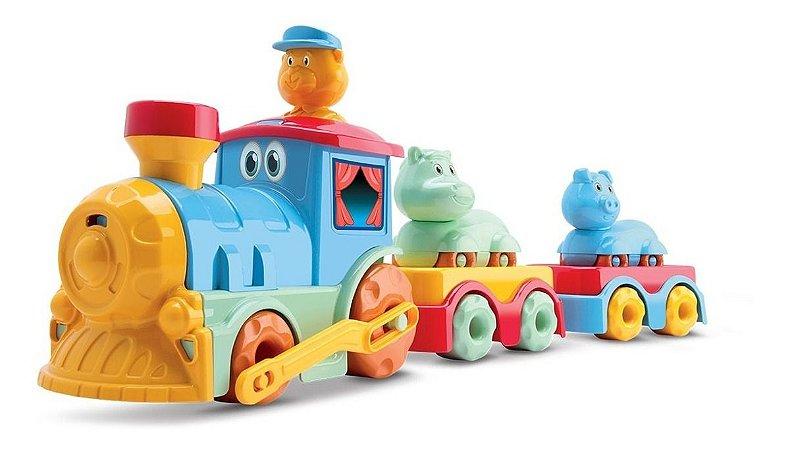 Trem Trenzinho Tchuco Circus Baby C/ Som E Atividades- Samba