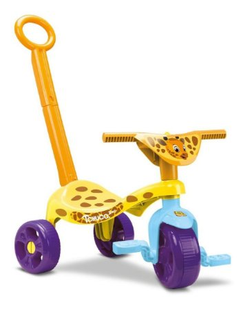 Velotrol Triciclo Infantil Tchuco Zoo Girafa C/ Haste- Samba