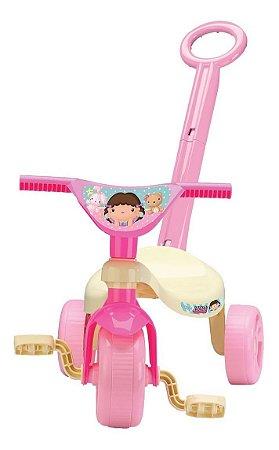 Velotrol Triciclo Tchuco Doll C/ Haste - Lol - Samba Toys