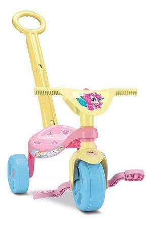 Velotrol Triciclo Infantil Tchuco Unicórnio C/ Haste - Samba