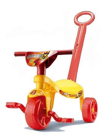 Velotrol Triciclo Implacáveis Homem De Ferro C/ Haste- Samba